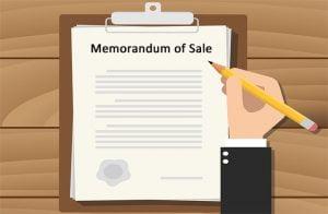 memo of sales