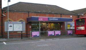 Upminster C2C train station